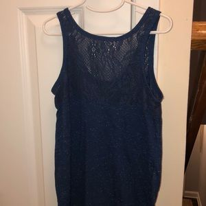 Aeropostale Tops - blue tank top with lace